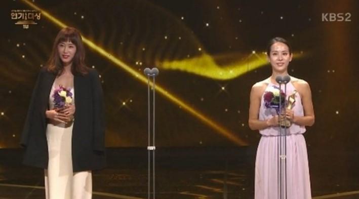 "Best Actress for Short Dramas Award – Kang Ye Won (""Baek-hee Has Returned"") and Jo Yeo Jeong (""Babysitter"")"