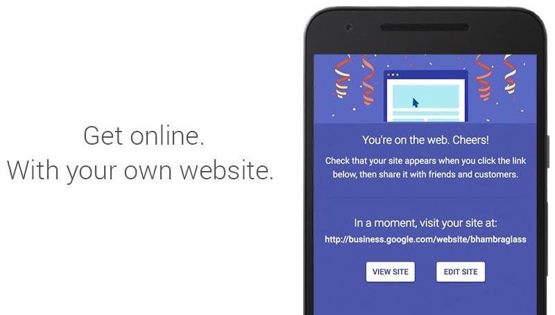 Digital Unlocked Google CEO Sundar Pichai announces My Business Websites for Indian SMBs