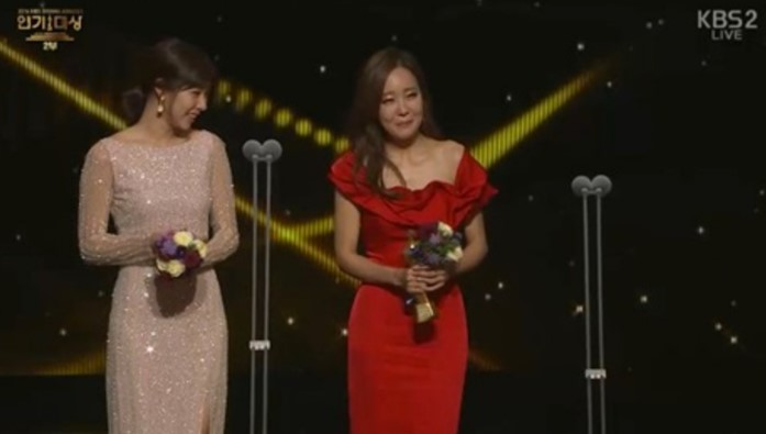 "Female Excellence Award for Long-Running Drama – So Yoo Jin (""Five Children""), and Jo Yoon Hee (""Laurel Tree Tailors"")"