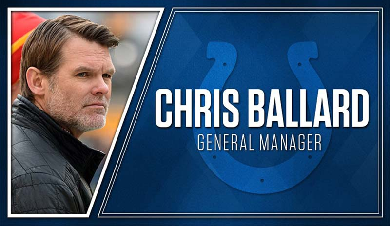 Indianapolis Colts hired Chris Ballard as Colts new general manager
