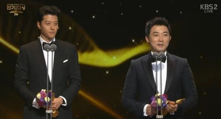 "Male Excellence Award for Long-Running Drama – Lee Dong Gun (""Laurel Tree Tailor"") and Ahn Jae Wook (""Five Children"")"