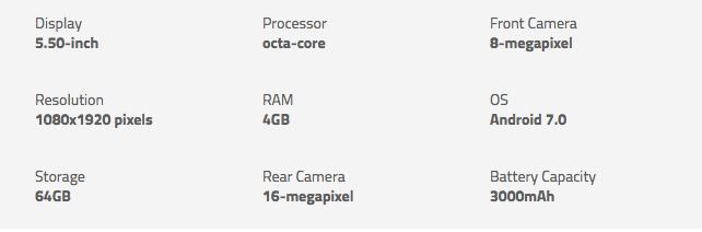 Nokia 6 Specification/Specs