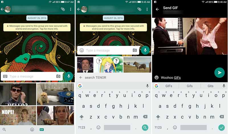 WhatsApp GIF for Android Device: Users can search & send GIFs NOW!