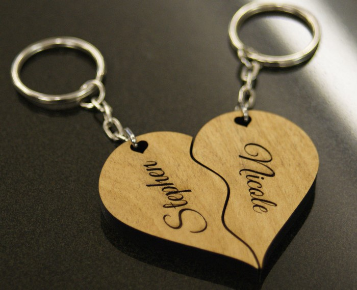 happy valentines day keychain gift