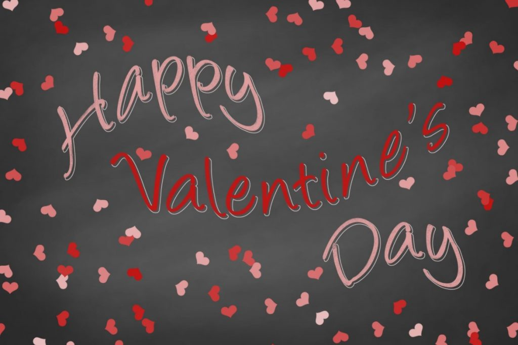 valentine day wallpaper black