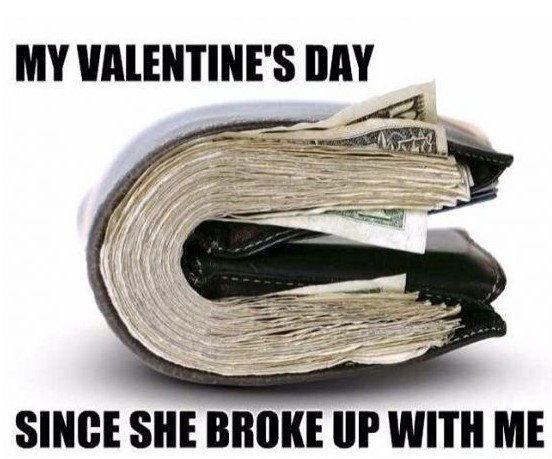 valentines day broke up