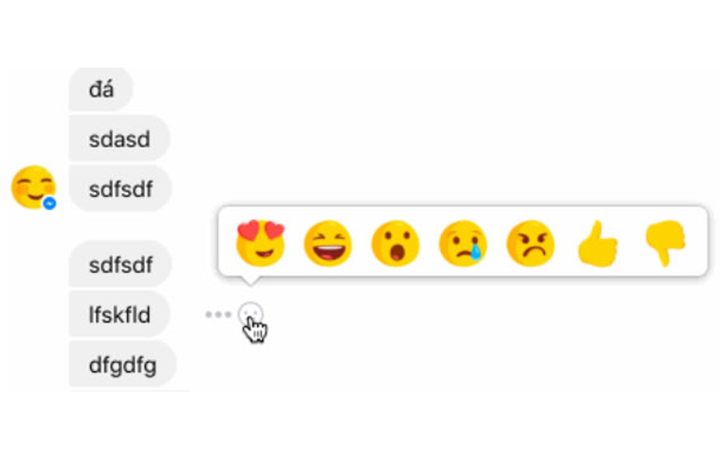 Facebook Messenger is Testing the Reactions as like Facebook Post
