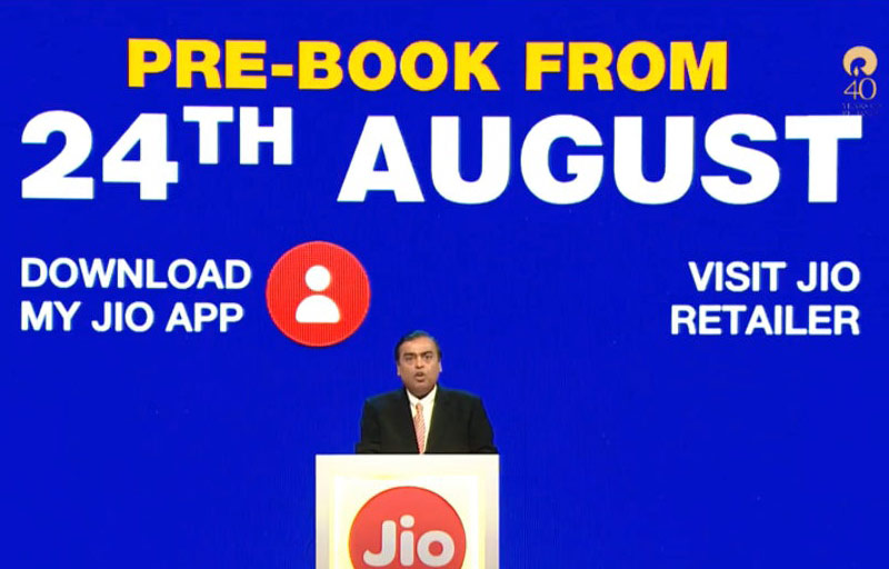 Reliance Jio Phone Pre booking