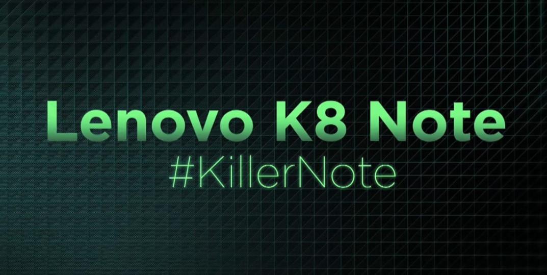 Lenovo K8 Note launch in India