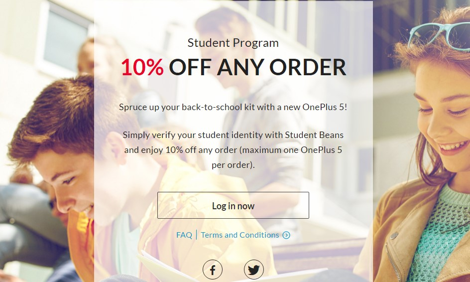 OnePlus 5 Student Program offers 10 percent discount