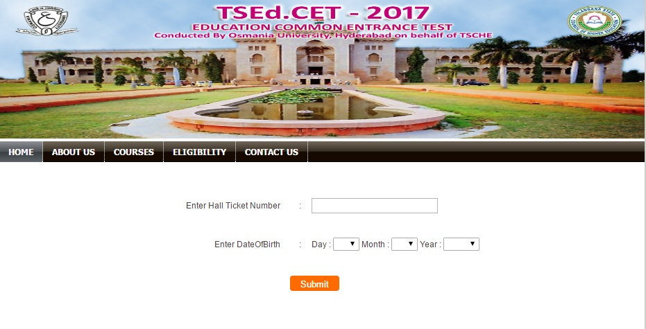 TS EdCET 2017 rank card