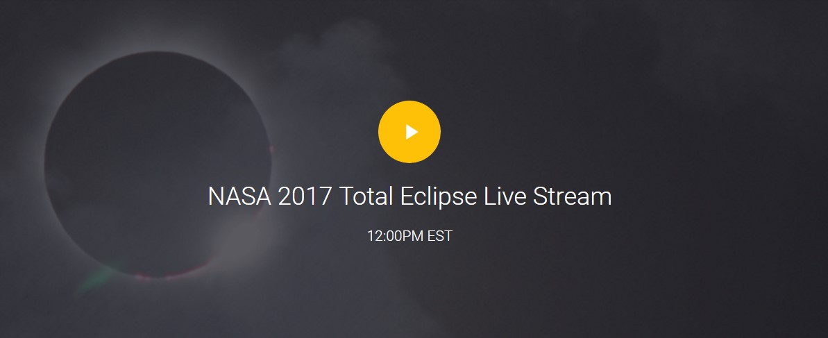 watch NASA 2017 Solar eclipse live online