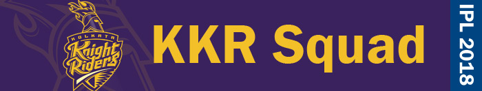 KKR squad - IPL 2018
