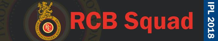 RCB squad - IPL 2018