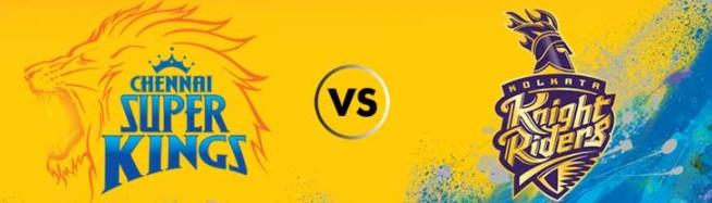 Chennai Super Kings vs Kolkata Knight Riders CSK vs KKR