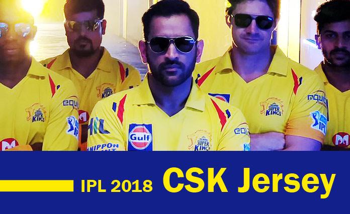 IPL 2018 CSK Jersey