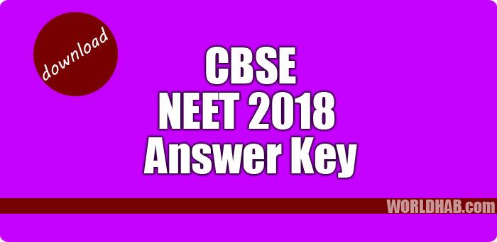 CBSE NEET 2018 Anser KEY