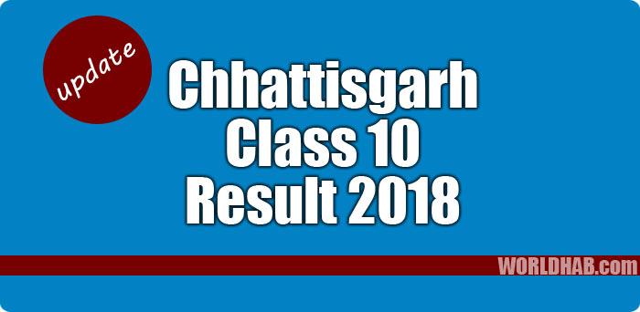 CGBSE Chhattisgarh Class 10 results 2018.psd