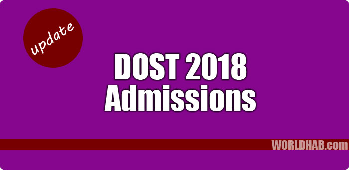 DOST 2018 admission