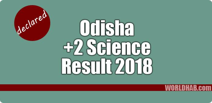Odisha +2 Science result 2018