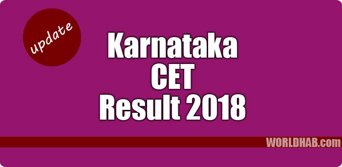 Karnataka CET 2018 results