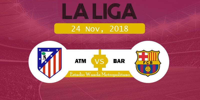 Atlético Madrid vs Barcelona Live Streaming TV list