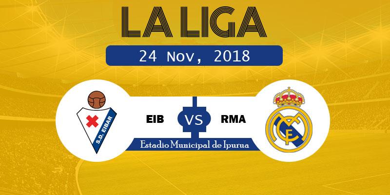 Eibar vs Real Madrid LaLiga: RM vs EIB Live goals, starting XI