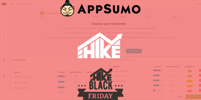 Hike organic SEO services AppSumo Black Friday Deal
