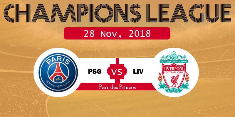 PSG vs Liverpool Champions League Live Streaming